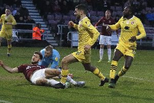 Adam Phillips scored Morecambe's consolation goal in their defeat at Northampton Town last weekend