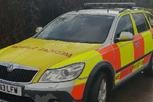 Gary Bartholomew's emergency response vehicle, which was given a parking ticket outside BMI Lancaster.