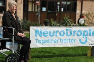 Sharon Jackson at the Neuro Drop-In.