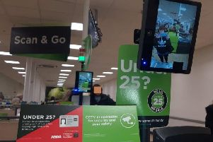 The screens at the self service checkouts in Asda