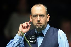 Mark Williams during his match against Sheffield's Adam Duffy.