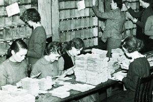 Dealing with some of the applications for new ration books during WWII