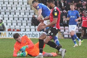 Vadaine Oliver is the latest addition to Morecambe's injury list