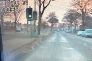 The driver comes a cropper on Westgate, Morecambe, Photo courtesy of Lancashire Road Police