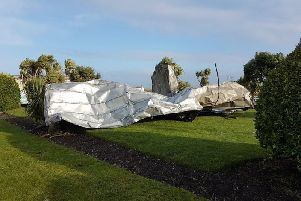 Part of the roof at The Midland Hotel in Morecambe has blown off (Photo: Chris Hinchcliffe)