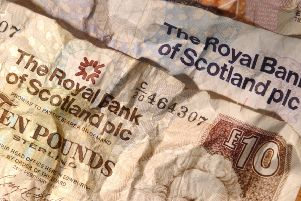 Royal Bank of Scotland and Bank of Scotland notes.