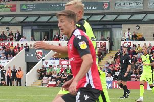 Morecambe midfielder Andy Fleming