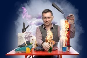 Mark Thompson brings his science shows to The Platform.