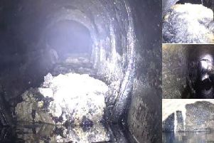 The fatberg weighs 90-tonnes and measures 275 feet - the biggest ever found in the North West. Pic - United Utilities.