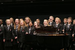 Students from Hall Cross Academy, Doncaster taking psrt in the Schubert in Schools project. Pic: Fraser Wilson