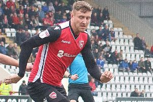 Richie Bennett had a difficult afternoon for Morecambe at the weekend