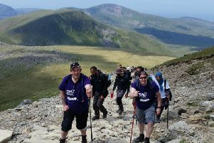 Emmaus Leeds members hiking up Snowden on a previous visit. Picture: Emmaus Leeds.