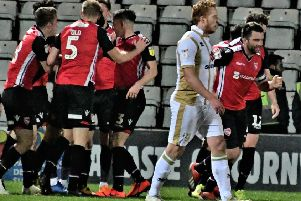 Morecambe hope for further celebrations after seeing off MK Dons on Tuesday night