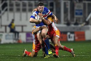 CRUEL BLOW: Wakefield's James Batchelor faces up to three months out.' Picture Jonathan Gawthorpe