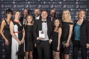 Hotfoot Design winning their award at the Red Rose Awards. Photo by Nick Dagger Photography.