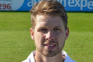 Derbyshire County Cricket Club, pictured is Matt Critchley