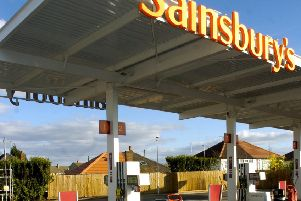 Sainsbury's petrol station in Morecambe.