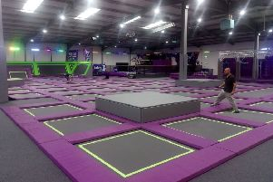 Jump Rush trampoline centre in Morecambe. Photo by Greg Lambert.
