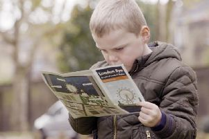 Kieran does a bit of map reading in ITVs Planet Child