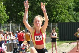 Olivia Reah won gold in the U17 womens triple jump with lifetime best leap.