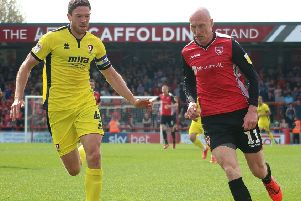 Kevin Ellison scored seven goals for Morecambe in the 2018/19 season