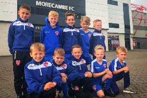 The U9 players who signed on at the Globe Arena