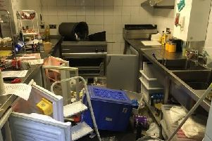The kitchen at Woodie's Snack Bar at The Crook O' Lune was ransacked.