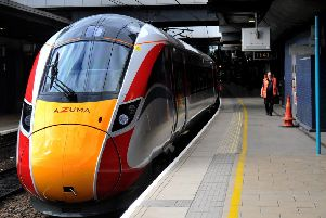 There are delays to the introduction of new Azuma trains on the East Coast Main Line.