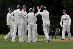 Cuckney celebrate catching out Ray Jordan.