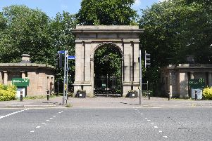 The lodges either side of the Plantation Gates at Haigh Woodland Park