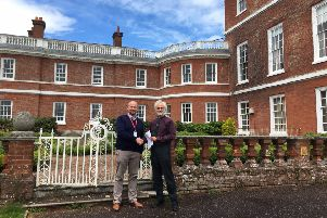 Lancaster & Morecambe College principal Wes Johnson and Phil LeGrice, director of Land-Based Education Cornwall College.