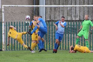 Sunday Alliance division two action from Fylde Rangers v FC Fleetwood