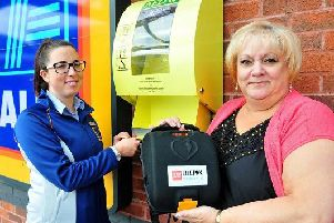 The defibrillator which went missing but has mysteriously returned