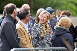 Hollywood star Annette Bening in Yorkshire during the filming of Hope Gap. Picture: Marie Caley.
