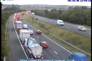 Junction 38 of the M1 northbound.