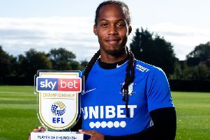 Preston midfielder Daniel Johnson with the Sky Bet Championship player of the month award