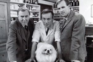 All Creatures Great and Small, L-R: Robert Hardy, Christopher Timothy and Peter Davison