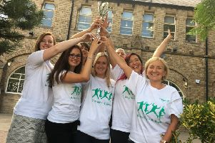 The Workplace Challenge's most active workplace was B. Braun Medical Ltd, membersof the team is pictured holding the trophyThe Workplace Challenge's most active workplace was B. Braun Medical Ltd, membersof the team is pictured holding the trophy