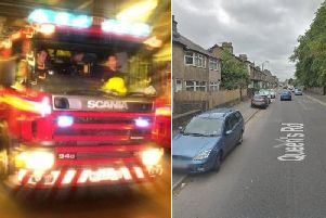 Firefighters tackled a blaze in Queens Road, King Cross
