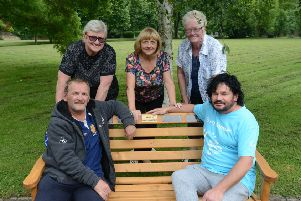 Friends of Hebburn Cemetery: Front from left John Stewart and Mark Young. Back from left Trish Conway, Carol White and Judith Pickering
