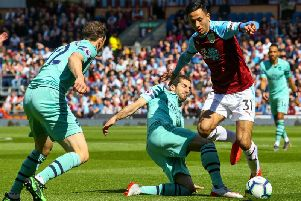 Burnley's Dwight McNeil tries to make things happen against Arsenal at Turf Moor