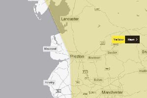 The Yellow Weather Warning covers much of the North West.