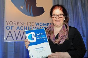 Sally Wainwright at the Yorkshire Women of Achievement Awards in 2015. Picture: Bruce Rollinson.