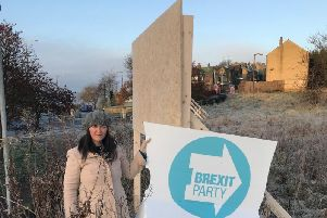 Brexit Party candidate for Halifax Sarah Wood