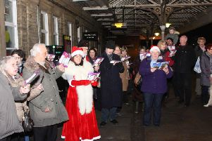 Carols at Hebden Bridge Station