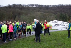 The Mayor of Todmorden set off the 143 runners at Centre Vale Park.