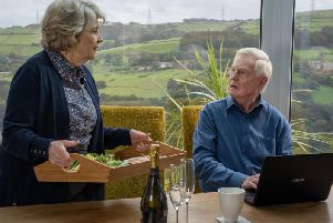 Anne Reid and Derek Jacobi. Picture: BBC/Lookout Point/Matt Squire