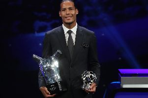 Liverpool's Virgil van Dijk was crowned the Premier League Player of the Year for the 2018/19 campaign