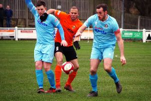 Aaron Martin scored the only goal as Brighouse Town beat Marske United 1-0 last weekend. PIC: Steven Ambler.