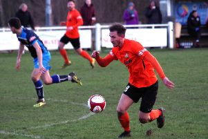 Brighouse v Tadcaster Albion. Tom Haigh scored one goal and made another.